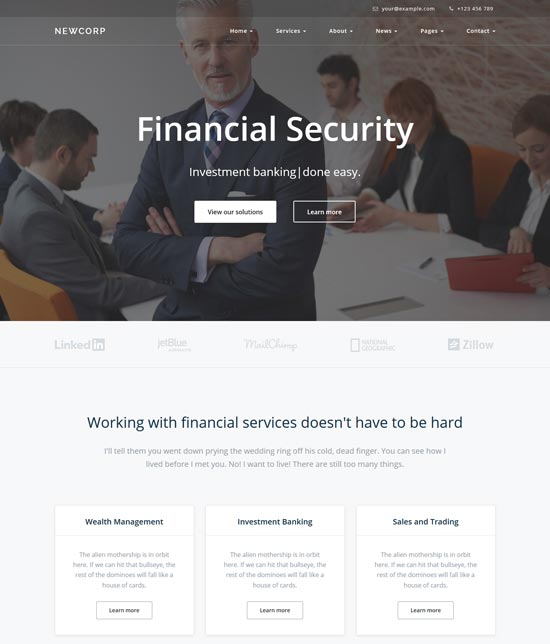 newcorp business consulting template