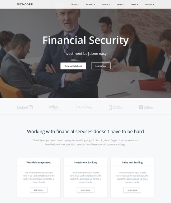 newcorp-finance-consulting-template