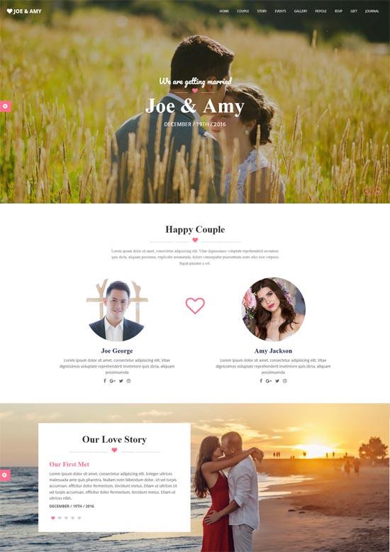 newlyweds html wedding template