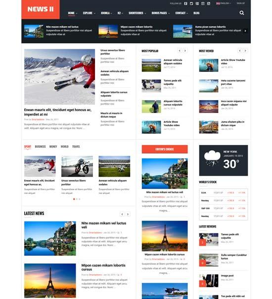 news ii news magazine joomla template