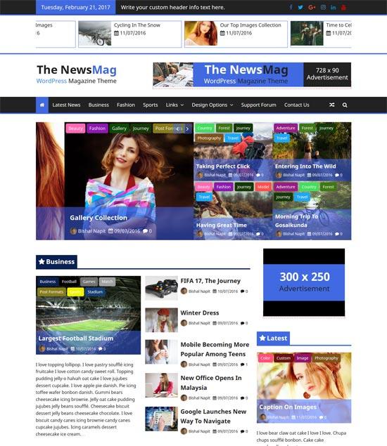 newsmag free wordpress theme