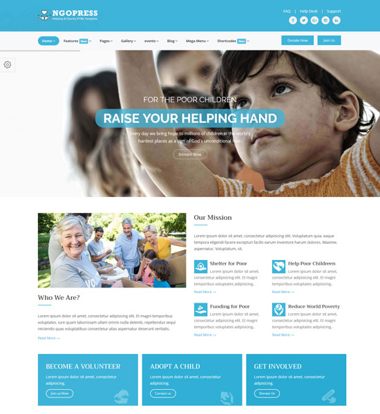 ngopress nonprofit charity html5 template
