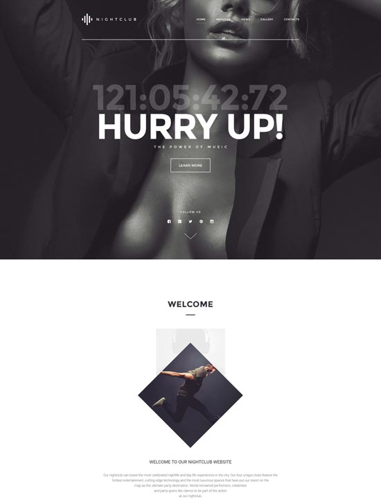 night club html website template 57973