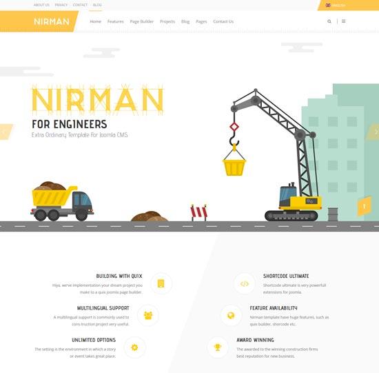 nirman construction joomla template