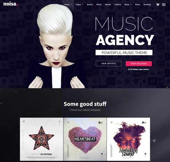 noisa wordpress music events theme