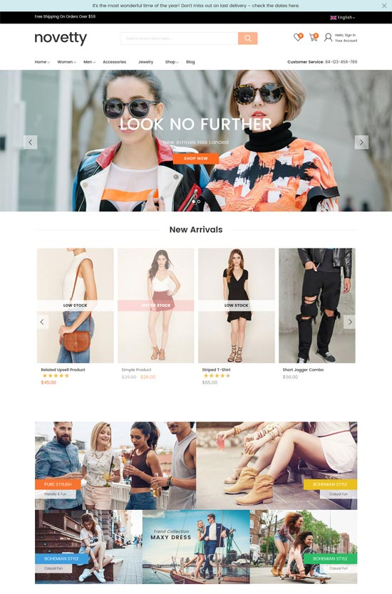 novetty fashion magento 2 theme