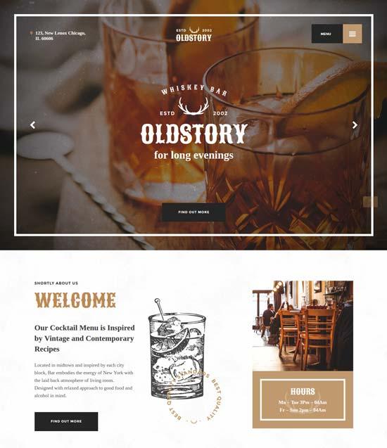 oldstory-whisky-bar-restaurant-template