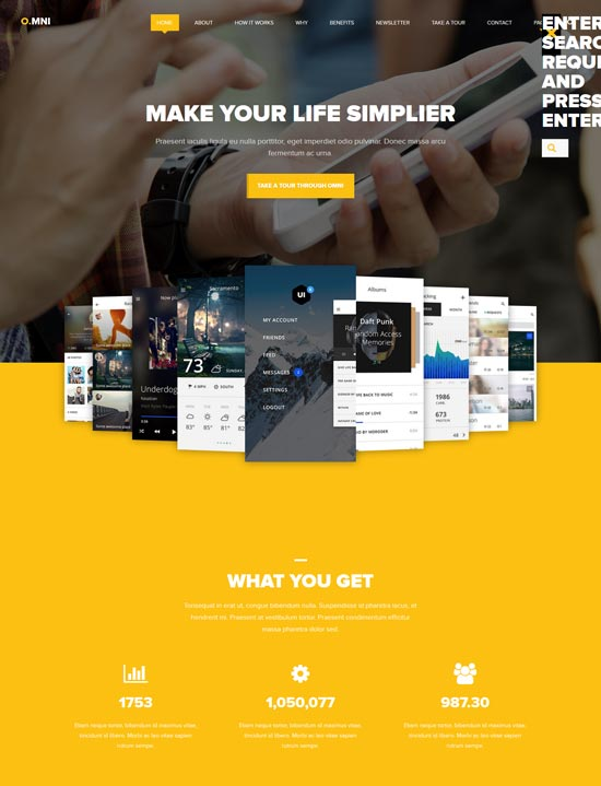 omni app wp theme