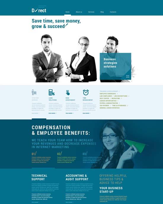 online business agent WordPress theme