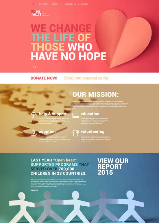 open heart charity html template