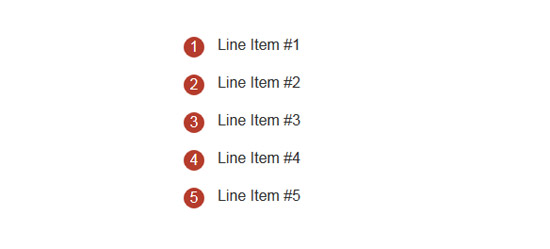ordered list with css counters