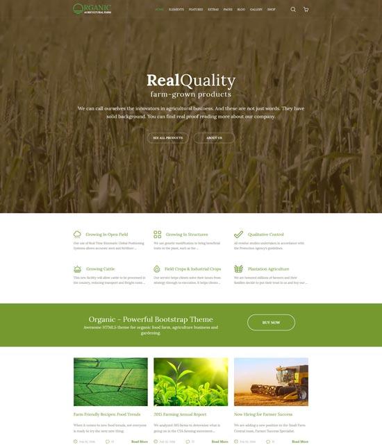 organic agriculture farm template