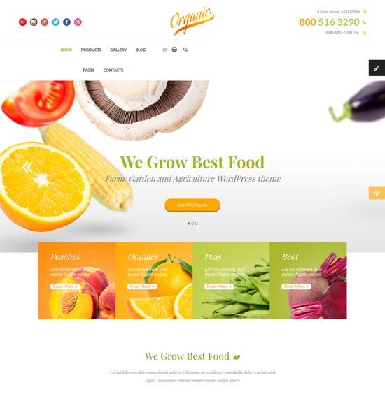 organic farm agriculture html template