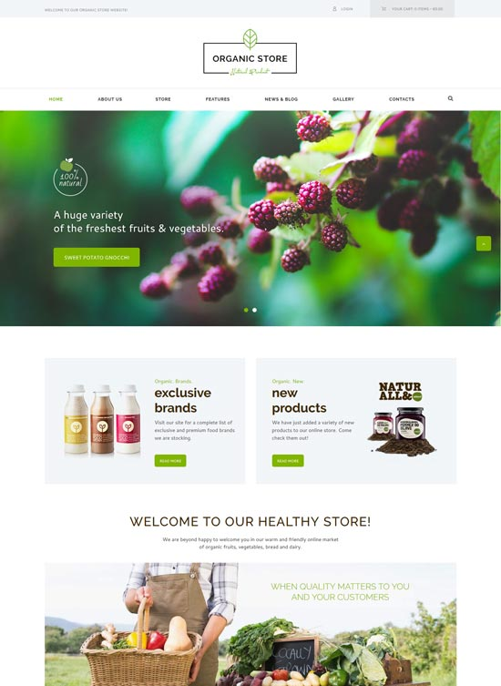 organic food site template