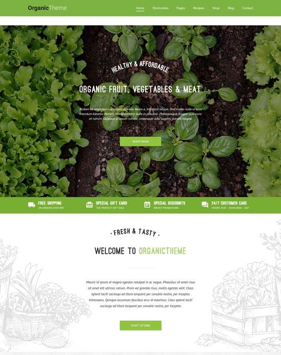 organic organic farm food WordPress theme