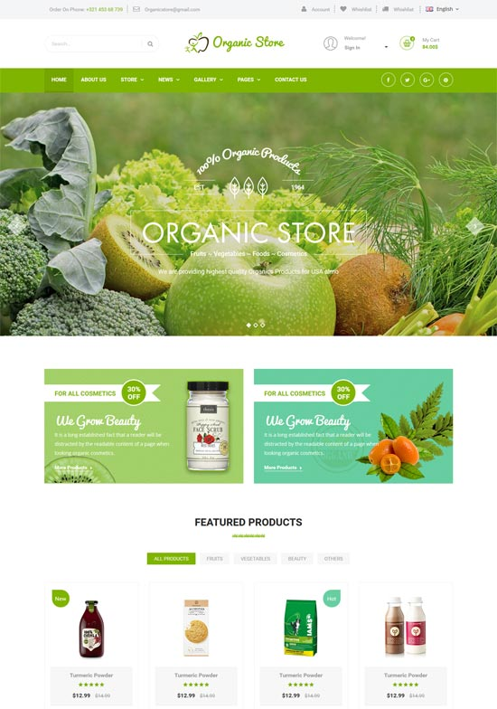 organic store agriculture html template