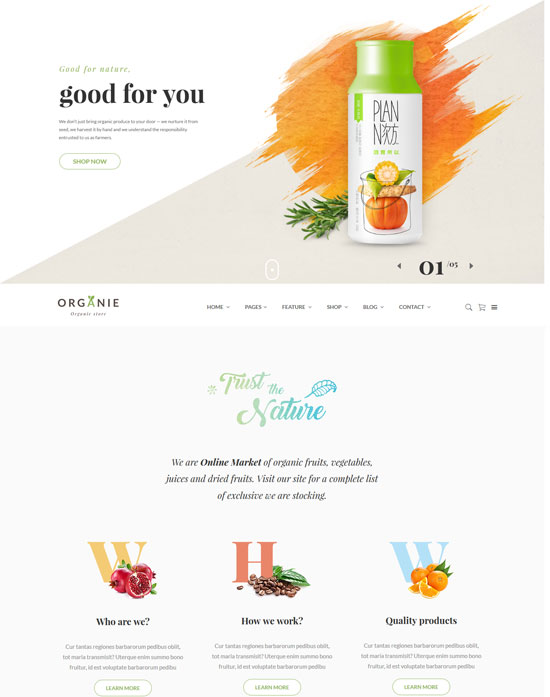 organie html farm shop template