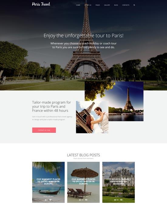 paris travel joomla template