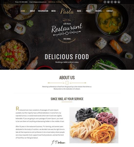 pasta restaurant html template