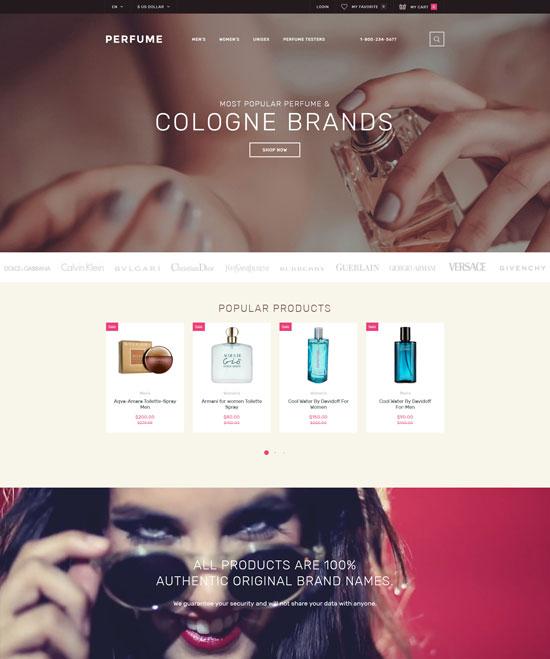 perfume shop opencart template