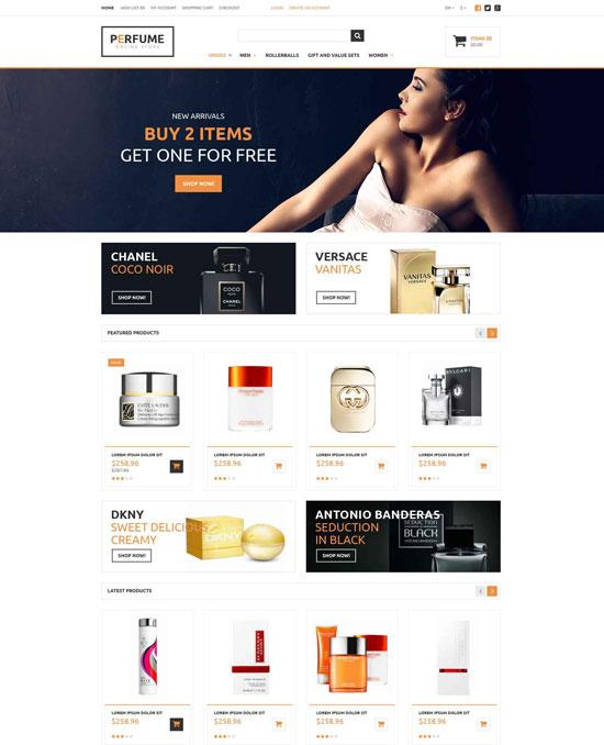 perfume store opencart theme