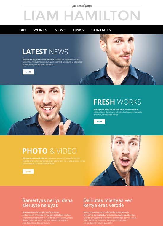 personal page WordPress theme 53390