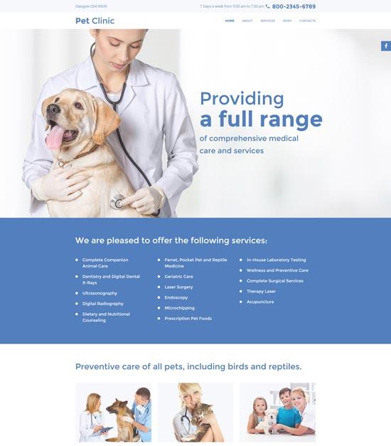 pet clinic html template