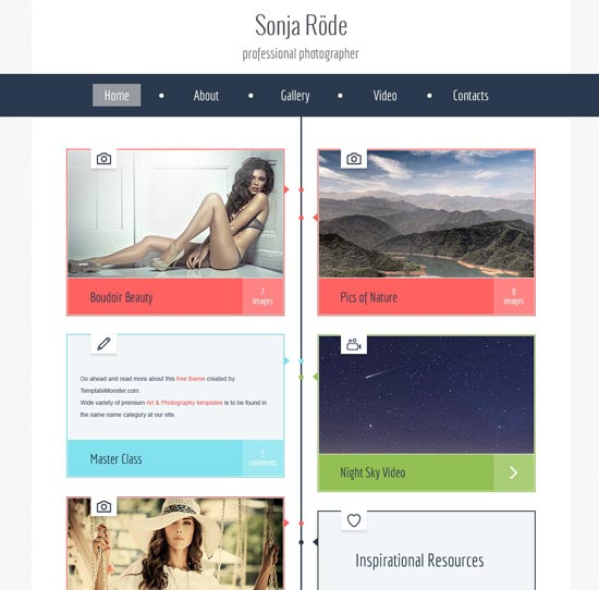 photography site html5 theme