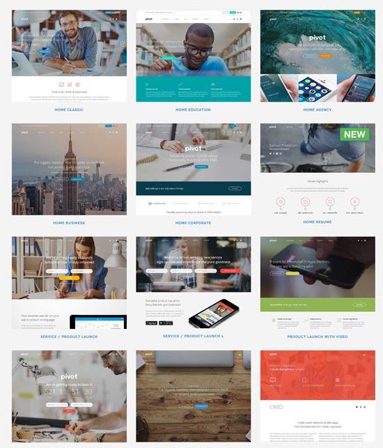 pivot best html website template