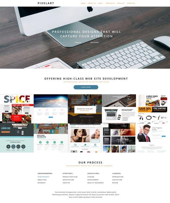 pixelart web design WordPress theme