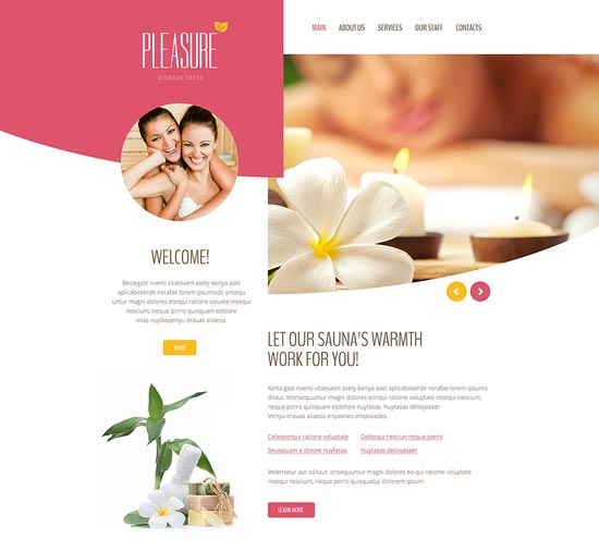 pleasure-website-template