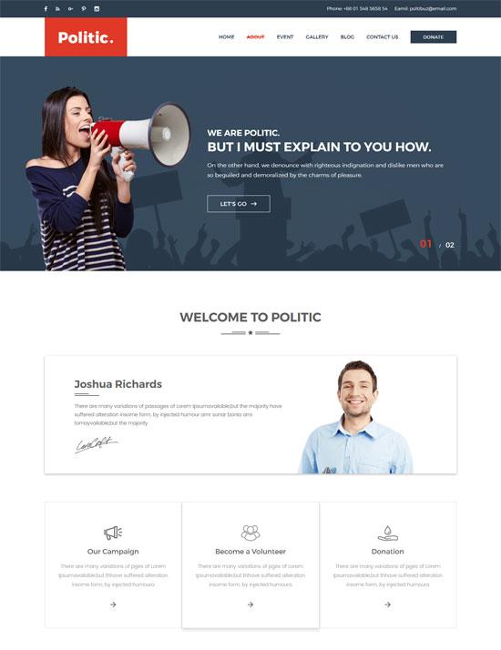 politic political html template