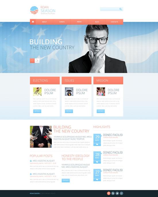 political candidate website template 45409