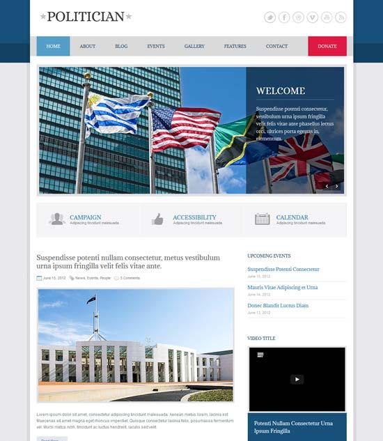 Politician Responsive HTML5 CSS3 Template