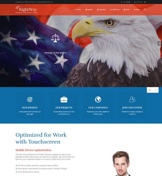 politics activism site template