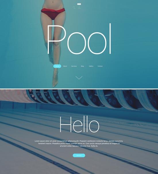 pool cleaning WordPress theme 55279