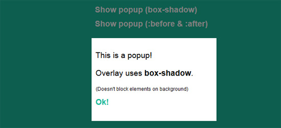 Popup Overlays in pure CSS