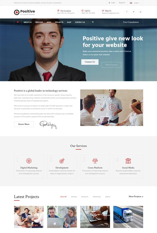 positive consulting services html template