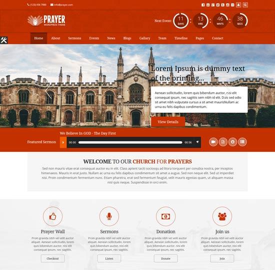prayer-html-template