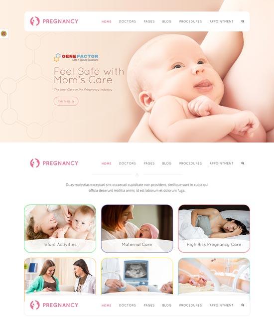 pregnancy medical gynecologist theme