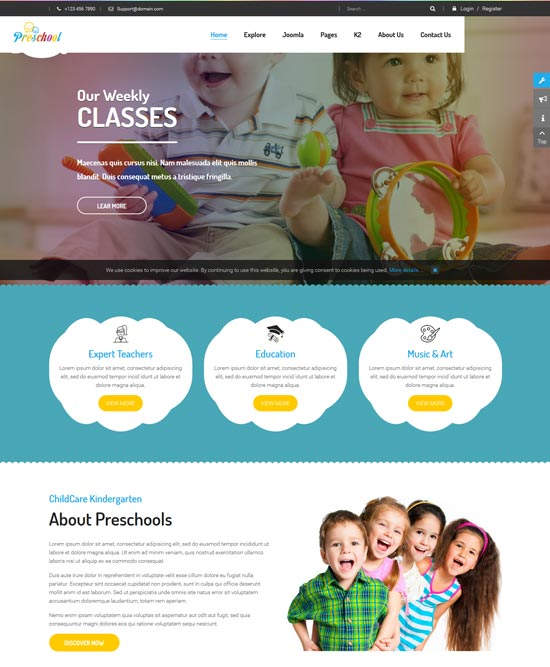preschool education joomla template