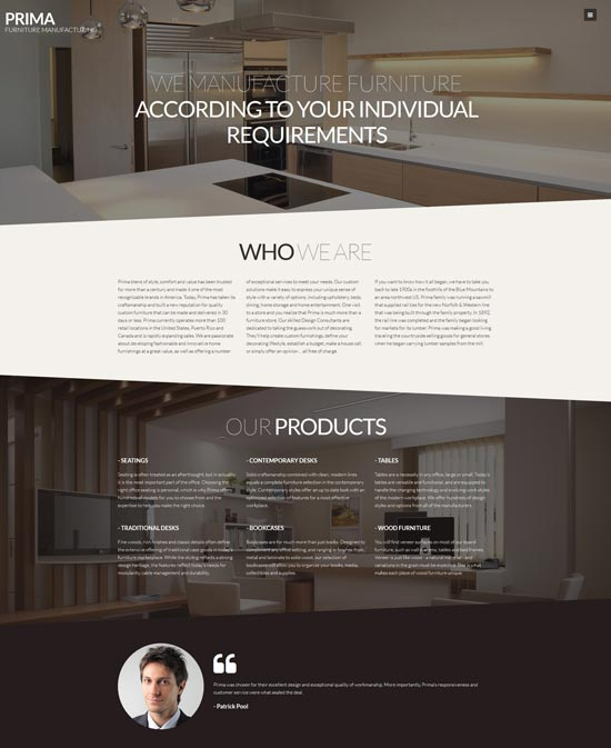 prima interior design furniture joomla template