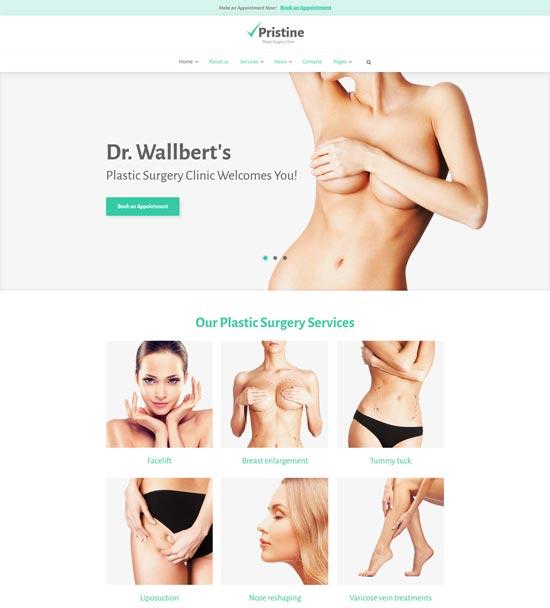 pristine surgery health WordPress theme