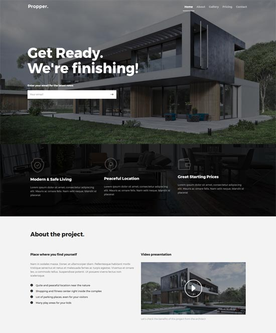 propper architecture wordpress theme