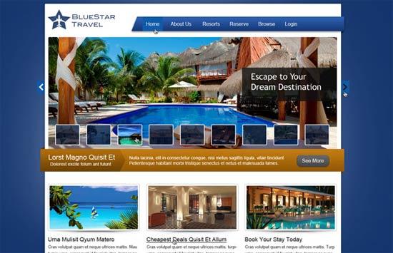 Travel Website PSD Layout