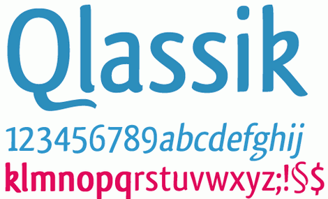 Qlassik - free truetype fonts