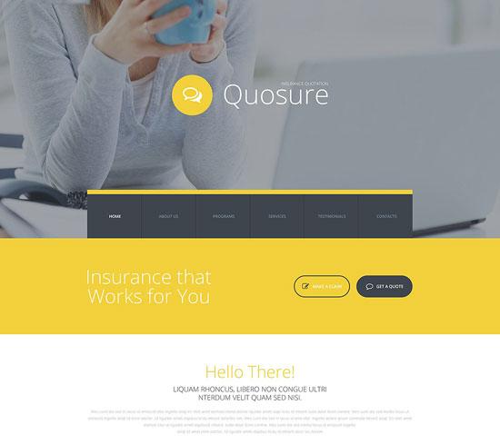 Quosure Insurance Website Template
