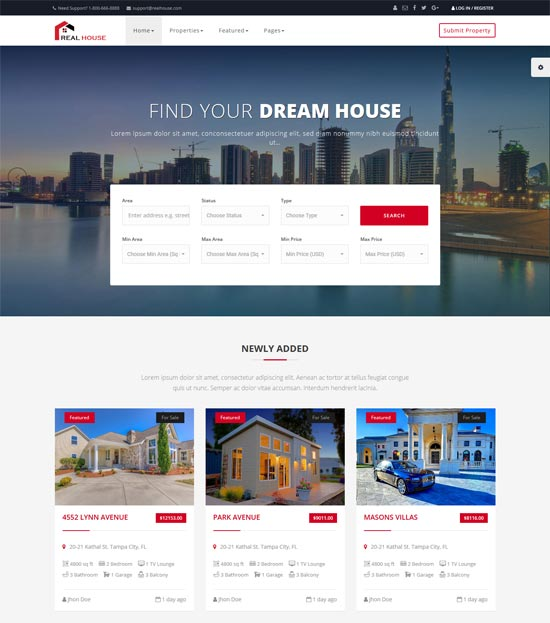 real house real estate html template