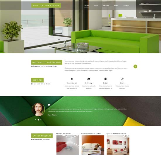 reclining furniture website template 54995