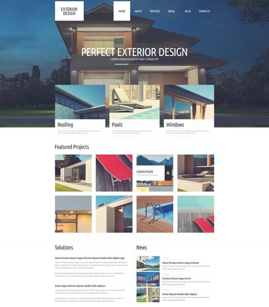 refined exterior design WordPress theme